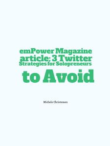 Twitter Strategies for Solpreneurs to Avoid