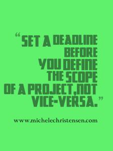 Creating deadlines can help solopreneurs
