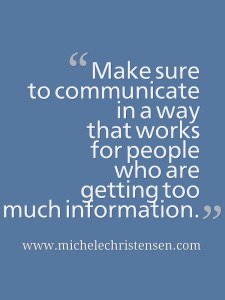 Consider information overload when you communicate